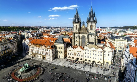 Prague: 1 to 4 Nights for 2 with Breakfast, Bottle of Wine and Early Check-In or Late Check-Out at Hotel Astra