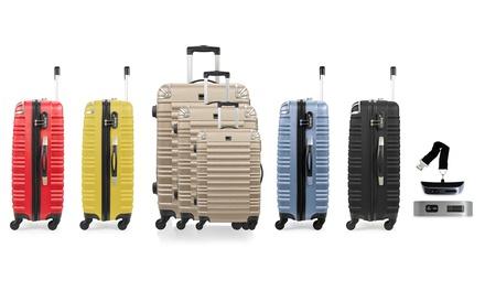 9c1808924 Set de 3 maletas trolley Lima disponibles en varios colores más báscula por  99,99