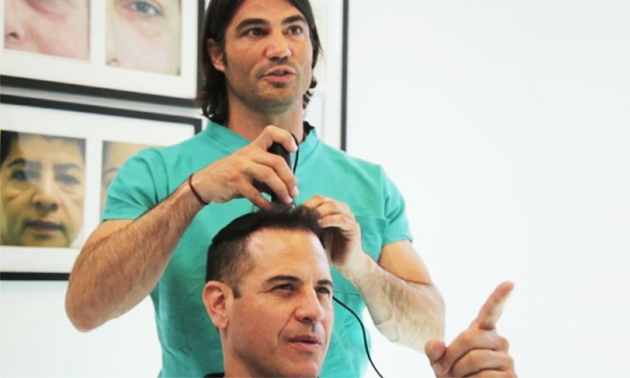 Stop & reGrow by Robert Nettles M.D. - Beverly Hills: $89 for a Men's Hair Regrowth Package from Stop & reGrow by Robert Nettles M.D. ($449 Value)