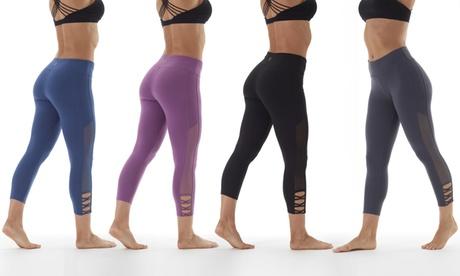 Marika Women's Mesh Cut Out Leggings 63bcdcf8-cbbc-4d54-8db6-1fd4cba2d8de