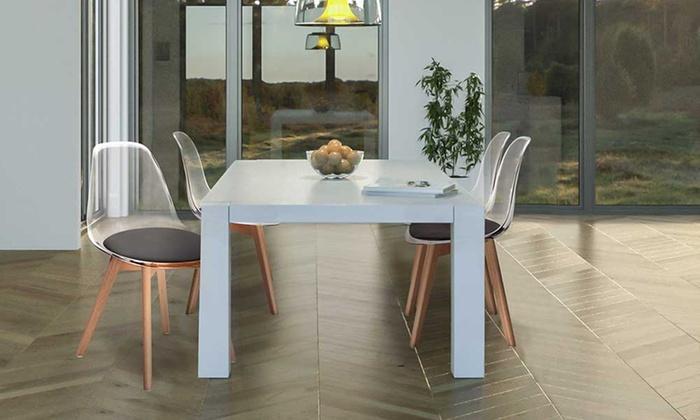 jusqu 39 69 chaises scandinaves transparentes groupon. Black Bedroom Furniture Sets. Home Design Ideas