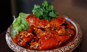 Jonker Walk Malaysian Restaurant & Bar: Malaysian 1kg of Crab and Wine for Two ($69) or Four ($99) at Jonker Walk Malaysian Restaurant & Bar (Up to $157 Value)