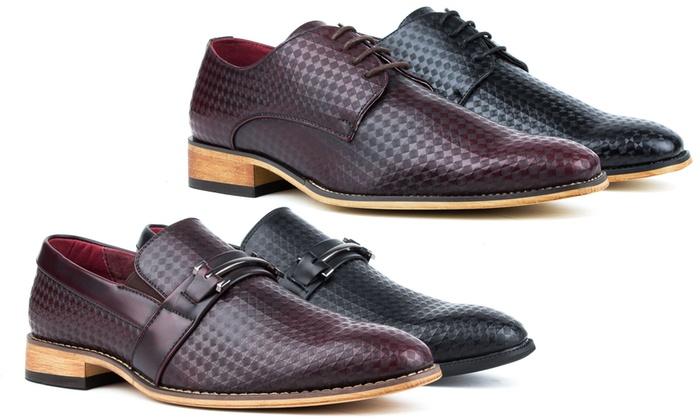 Signature Men's Plain-Toe Diamond-Cut Loafers or Dress Shoes