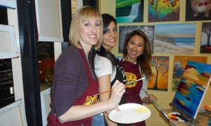 44% Off BYOB Painting Party at Pinot's Palette at Pinot's Palette  , plus 6.0% Cash Back from Ebates.