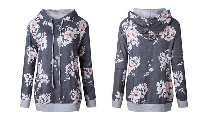 d659b1e9e7 Up To 66% Off on Women's Floral Hoodie (S-3X) | Groupon Goods
