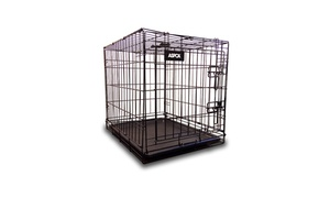 ASPCA Folding Metal Pet Crate with Removable Tray