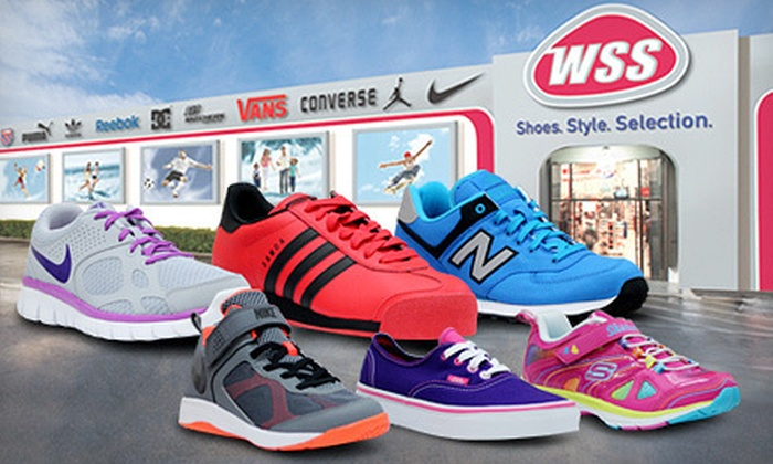 WSS Footwear - Multiple Locations: Shoes and Accessories at WSS Footwear (Up to Half Off). Two Options Available.