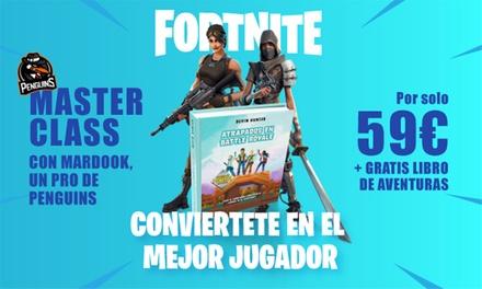 Experiencia Fortnite con masterclass y libro ''Atrapados en Battle Royale'' por 59 €
