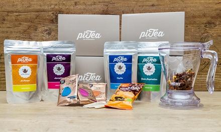 2- oder 4-monatiges Geschenk-Abo für Teegenießer mit Teatimer und Filter oder Zubereiter von piTea (bis zu 37% sparen*)