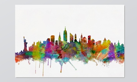 Michael Tompsett Skyline Art on Gallery-Wrapped Canvas