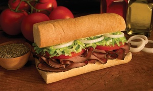 """Blimpie: Three Groupons, Each Good for a 6"""" Sub, Chips, and a Drink, or One 12"""" Sub at Blimpie (Up to 39% Off)"""