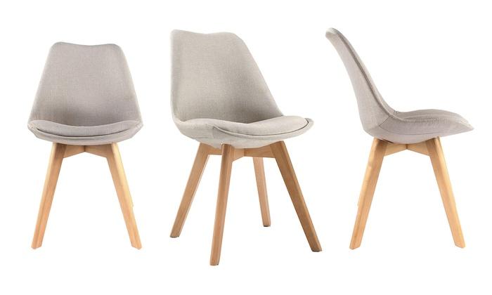 2 ou 4 chaises style scandinave modèle Skinny