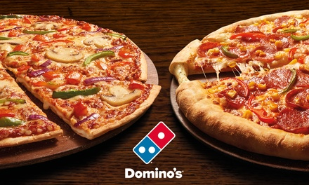 Domino's pizza collection and delivery offer from £2, three locations (£1 Groupon fee applies)