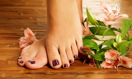 Manicure with Options for Paraffin Dip or Pedicure and Blowout at Nail Garden (Up to 45% Off)