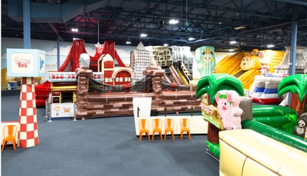 One Bounce Pass with 80 Tokens or Two Bounce Passes with 100 Tokens and Pizza at Bounce-a-Rama (Up to 32% Off)