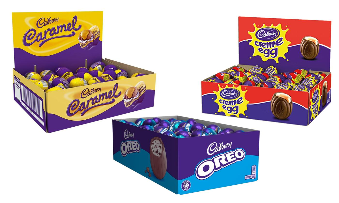 Box of 48 Cadbury Easter Eggs in Different Flavors