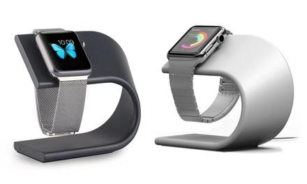 Lade-Halterung aus Aluminium für Apple Watch in Silber oder Metallic (Stuttgart)