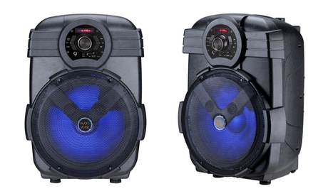 "AudioVerse AV-12 12"" Wireless Bluetooth Party Speaker with Lights"