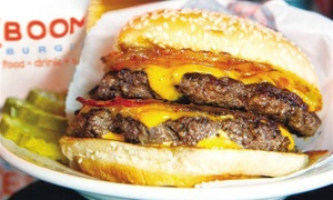 50% Off at ((Boom)) Burger at ((Boom)) Burger, plus 9.0% Cash Back from Ebates.