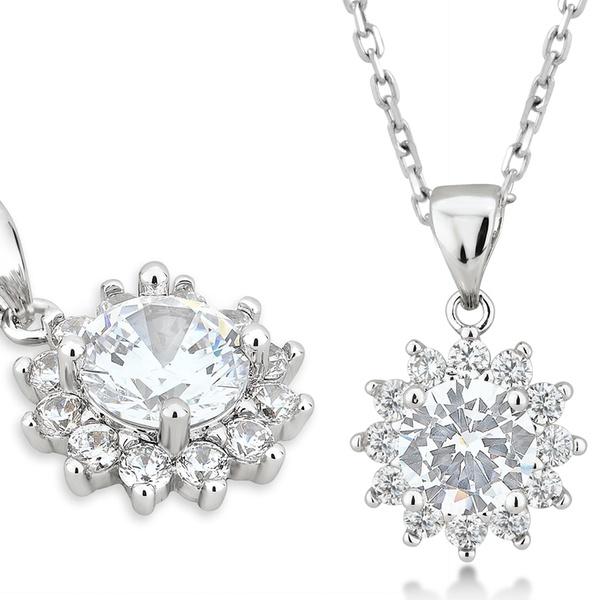 c31c7c109 Up To 57% Off on Cubic Zirconia 3-Pc. Jewelry Set | Groupon Goods
