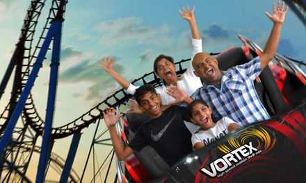Vortex 12D Motion Theatre Package with Snacks for 1 Child ($24) or 2 Adults ($58) at Thrill Zone (Up to $103 Value)