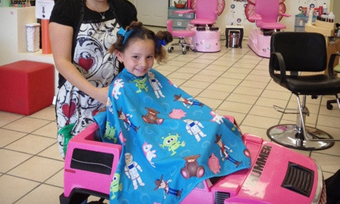 Lolis & Mike's Spa for Kids - Stone Ridge: Kids' Haircut or Ice-Cream Mani-Pedi at Lolis & Mike's Spa for Kids (Up to 75% Off)