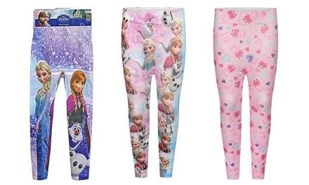 Girls Frozen, Minions or Peppa Pig-Themed Leggings