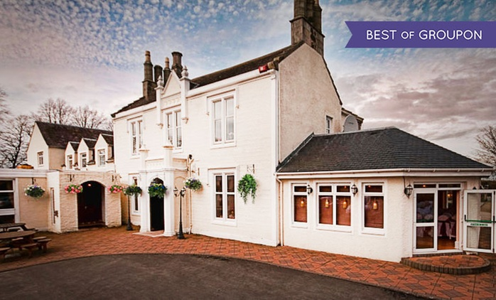 Ayrshire: 1 to 3 Nights for Two with Breakfast and Option for Drink on Arrival at the Burnhouse Manor Hotel