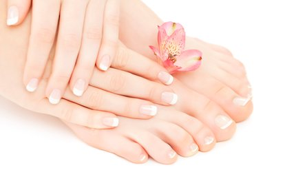 Shellac Manicure, Pedicure or Both at Monika Nails Salon (Up to 63% Off)