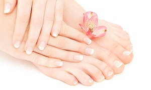 Monika Nails Salon: Shellac Manicure, Pedicure or Both at Monika Nails Salon (Up to 63% Off)