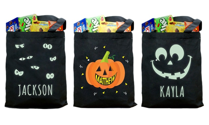 Halloween Trick Or Treat Bags Personalized.Personalized Halloween Trick Or Treat Bags From Giftsforyounow Com