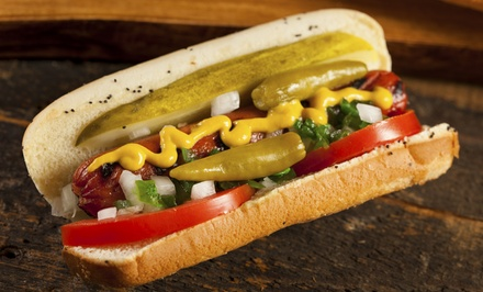 Gourmet Hot Dogs for Two or Four or $5 at Dog Daze Gourmet Hot Dogs (Up to 42% Off)