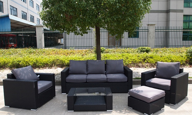 Rattan outdoor furniture groupon goods for Outdoor furniture groupon
