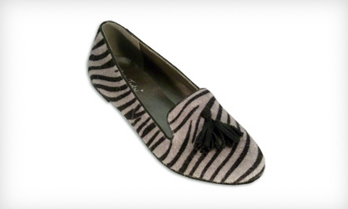 $24 for a Pair of BootsiTootsi Silver Tiger Tuxedo Women's Casual Slip-Ons with Tassel ($46 List Price). Free Shipping.