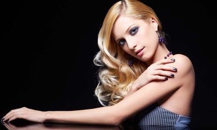 Haircut with Option for Partial or Full Highlights, or a Brazilian Blowout at House of Style (Up to 71% Off)