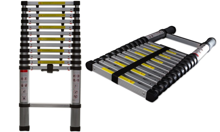 12 5 Extension Telescoping Aluminum Ladder : Telescoping extension ladder groupon goods