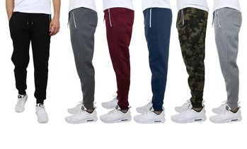 3-Pack Galaxy by Harvic Men's Fleece Jogger Sweatpants (S-2XL)