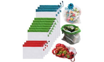 5 or 15 Reusable Mesh Produce Bags