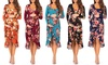 Women's Maternity Hi-Lo Ruffle Dresses with Adjustable Belt