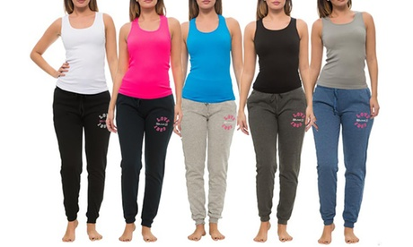 Coco Limon Women's Bright Long Jogger and Tank Top (8-Piece)
