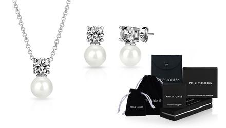 1 ou 2 parures perles Philip Jones plaquées or et ornées de cristaux Swarovksi®