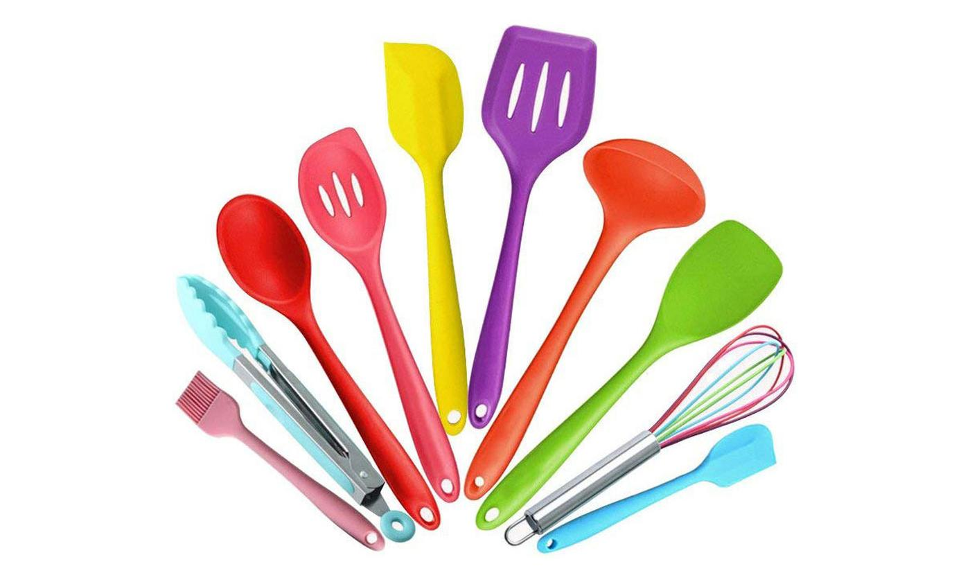 10-Piece Vivo Multicoloured Kitchen Utensil Set