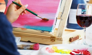 Vine Gogh Artist Bar & Studio: Painting Class for One or Two with Wine at Vine Gogh Artist Bar & Studio (Up to 39% Off)