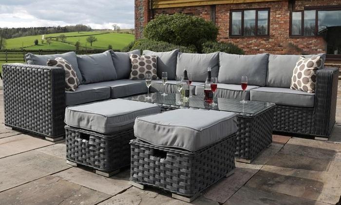 Papaver Grey Corner Sofa Set Groupon Goods