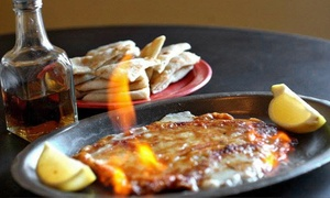 The Mad Greek: Greek and Indian Cuisine for Lunch or Dinner at The Mad Greek (Up to 48% Off). Three Options Available.