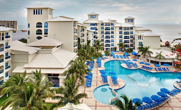 TripAlertz wants you to check out ✈ 3-, 4-, 5-, 6-, or 7-Night Barceló Costa Cancún Stay with Airfare. Price per Person Based on Double Occupancy. ✈ All-Inclusive Barceló Costa Cancún Stay from Vacation Express - All-Inclusive Cancún Vacation