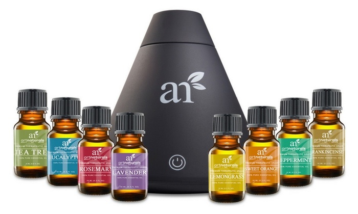 Art Naturals Cool Mist Ultrasonic Humidifier with Essential Oil Gift Set