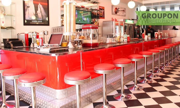 Double Burger or Foot Long Hot Dog with a Gourmet Shake Each from R199 for Two at Franky's Diner (Up to 40% Off)