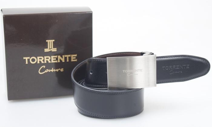 Ceinture hommes cuir Torrente Couture   Groupon d8b19ada600