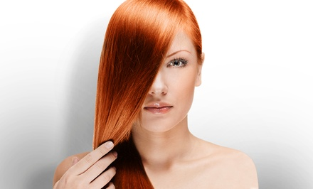 Style and Partial Highlights, Keratin Treatment, or Brazilian Blowout at Primp Salonbar (Up to 77% Off)